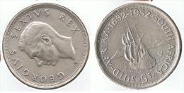 SUDAFRICA SUID AFRIKA 5 SHILLING 1952 PLATA SILVER G2 - Sudáfrica
