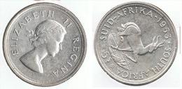 SUDAFRICA SUID AFRIKA 5 SHILLING 1953 PLATA SILVER G1 - Sudáfrica