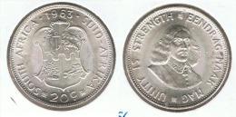 SUDAFRICA SUID AFRIKA 20C 1963 PLATA SILVER G1 BONITA - Sudáfrica