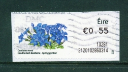IRELAND  -  2010  Post And Go Label  Wild Flowers - Spring Gentian  Used As Scan - Used Stamps