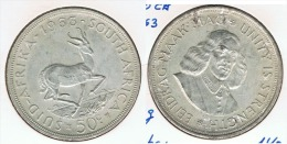 SUDAFRICA SUID AFRIKA 50 C 1963 PLATA SILVER G1 BONITA - Sudáfrica