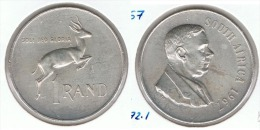SUDAFRICA SUID AFRIKA RAND 1967 PLATA SILVER P BONITA - Sudáfrica