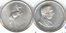 SUDAFRICA SUID AFRIKA RAND 1967 PLATA SILVER G3 BONITA - Sudáfrica