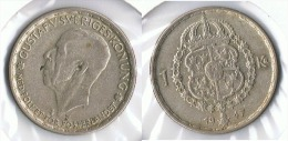 SUECIA CORONA 1947 PLATA SILVER G1 BONITA - Suecia