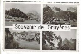 CPSM GRUYERES (Suisse-Fribourg) - Souvenir De....4 Vues - FR Fribourg