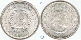 URUGUAY 10 PESOS 1961 PLATA SILVER G1 BONITA - Uruguay