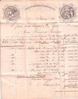 SUISSE 1856 LAC. BASEL TAXE TAMPON 8 POUR LYON. ENTREE SUISSE SAINT LOUIS. FACTURE J.F. SARASIN BELLE FACTURE/ ROUGE 23 - Postmark Collection (Covers)