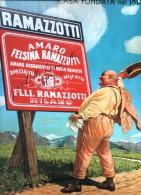 TARGA METALLICA (RIPRODUZIONE) : AMARO RAMAZZOTTI (RARA / OTTIMA) - Cartelli Pubblicitari