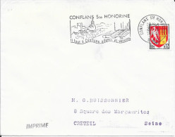 YVELINES 78  -- CONFLANS STE HONORINE   - FLAMME VOIR DESCRIPTION-  1964 - TIMBRE N° 1353 A TARIF DU 19.05.1964 - Marcophilie (Lettres)