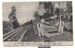 Madeira 1907, Funchal, Carro Do Monte, Trainrail, Train (in The Distance), Carry-structure, Used - Treni