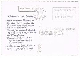 O.MEC. SECAP PP PARIS XII DONNEZ SON SANG SUR CPSM PUB PHARMACEUTIQUE DROMADAIRE - Storia Postale