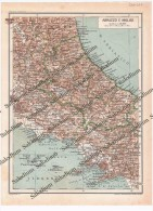 ABRUZZO E MOLISE  - Vecchia Mappa Cartina - Mappe