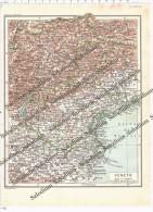VENETO - Vecchia Mappa Cartina Originale D´epoca - Mappe