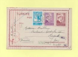 Turquie - 1940 - Censure Allemande - Destination France - 1921-... Republiek