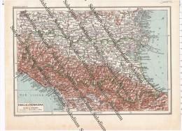 EMILIA ROMAGNA  - Vecchia Mappa Cartina Originale D´epoca - Mappe