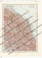 MARCHE - Vecchia Mappa Cartina Originale D´epoca - Mappe