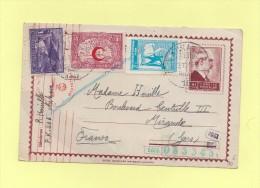 Ankara - Turquie - 1943 - Censure Allemande - Destination France - 1921-... Republiek