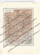 FRIULI VENEZIA GIULIA - VENEZIA TRIDENTINA - Vecchia Mappa Cartina Originale D´epoca - Mappe