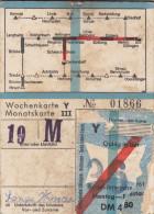 WOCHENKARTE - BIGLIETTO  /   Anno 1962 - Biglietti Di Trasporto