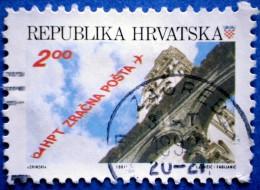 CROATIA AIRMAIL ZAGREB - SPLIT 1991 Perf: 10 3/4 USED STAMP - Croazia