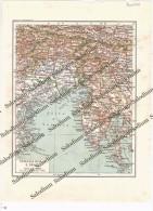 FRIULI VENEZIA GIULIA - VENEZIA GIULIA E FRIULI - Vecchia Mappa Cartina Originale D´epoca - Mappe