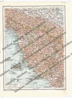 TOSCANA - Vecchia Mappa Cartina Originale D´epoca - Mappe