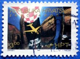 CROATIA AIRMAIL ZAGREB - PULA 1991 USED STAMP - Croazia