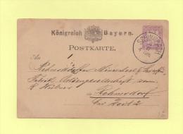 Schwabach - Bayern - Entier Postal - Allemagne