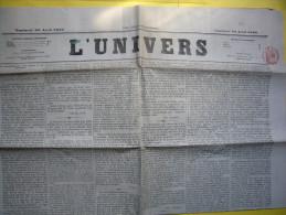 Journal L'Univers 23 Avril 1869 Quotidien Avec TP Fiscal - Journaux - Quotidiens