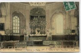 CPA 95  ANDILLY L INTERIEUR DE L EGLISE 1908 Colorisée Toilée - Francia