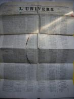 Journal L´Univers 24 Mars 1869 Quotidien Avec TP Fiscal - Journaux - Quotidiens