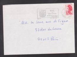 Flamme Dpt 71 : BUXY (SCOTEM N°  4963 émise Le 25/04/1980) : Vieux Châtel - Grands Vins Blancs De Montagny - Marcophilie (Lettres)