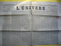 Journal L´Univers 29 Avril 1869 Quotidien Avec TP Fiscal - Journaux - Quotidiens