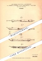Original Patent - J.H. Schlüter In Revensdorf Und A. Christensen In Gettorf , 1878 , Federhalter , Tintenhalter !!! - Penne