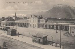 26n - 38 - Grenoble - Isère - Place De La Gare Et Le Moucherotte - C. Baffert N° 157 - Grenoble