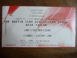 Ticket de Concert Mick Taylor (The Rolling Stones) Bergerac (24) 2010