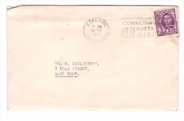 Australie Lettre 1951 1 Timbre George VI Cachet Adelaide - Cartas