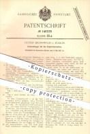 Original Patent - Gustav Brennwald In Zürich , 1901 , Knotenfänger Zur Papierfabrikation , Papierfabrik , Papier !!! - Documents Historiques
