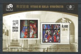 ALAND 2010 Bloc N° 9 ** Neuf = MNH  Superbe Cote 5,50 € Arts Vitraux Macao Eglise Jomala Ture Bengtz - Aland