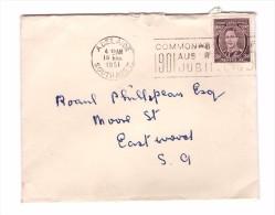 Australie Lettre Adelaide 1951 1 Timbre George VI - Briefe U. Dokumente