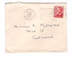 Australie Lettre Adelaide 1951 1 Timbre George VI - Cartas