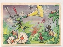 """Image N° 186 De L´album """"Les Fables De La Fontaine"""". Volume 2. 1952. Chocolat Menier. Signé Erik - Menier"""