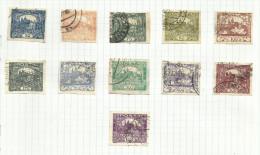 Tchécoslovaquie N°16 à 26 Cote 4 Euros - Oblitérés