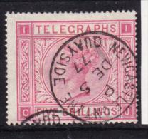 GREAT-BRITAIN-1876-1880-TELEGRAPHS-FIVE-SHILLINGS-USED-SEE-SCAN - Gran Bretaña