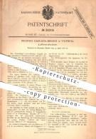Original Patent - Ricardo Caruana-Berard In Valencia , 1886 , Luftverdichter , Gebläse , Lüftung , Luft , Verdichter !!! - Documentos Históricos