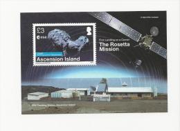 Ascension 2014 EESA Rosetta Mission Minsheet  MNH - Ascension
