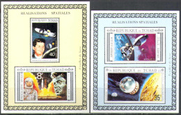 M1235 Space Apollo Raumfahrt Weltraum Chad 2S/s Proof Deluxe MNH ** Imperf Imp 60LE - Space
