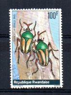 "Rwanda - 1978 - 100f  Beetle ""Eudcella Gralli"" - Used - Rwanda"