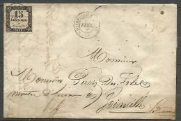 LETTRE DE JOINTVILLE 1866 AVEC TAXE  N�  3