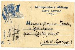 FRANCHISE POSTALE  CORRESPONDANCE MILITAIRE 1914 15  -   Adresser à Casteljaloux - Marcofilie (Brieven)